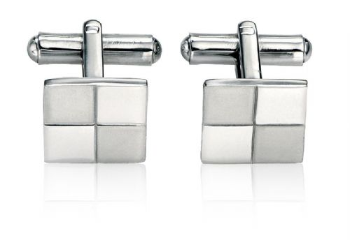 Fred Bennett Stainless Steel Brushed and Polished Cufflinks